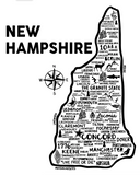 New Hampshire Map White