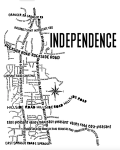 Independence Ohio Map Print