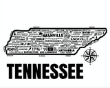 Tennessee Map White