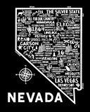 Nevada Map Black