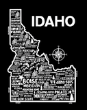 Idaho Map Black