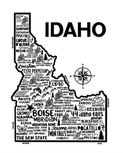 Idaho Map White