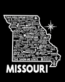 Missouri Map Black