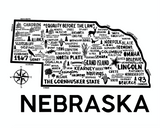Nebraska Map White