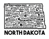 North Dakota Map White