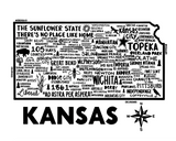 Kansas Map White