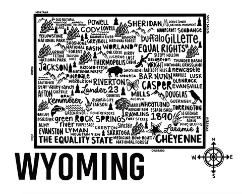 Wyoming Map White