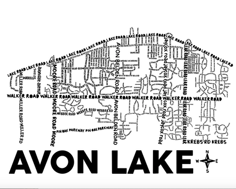 Avon Lake Ohio Map Print