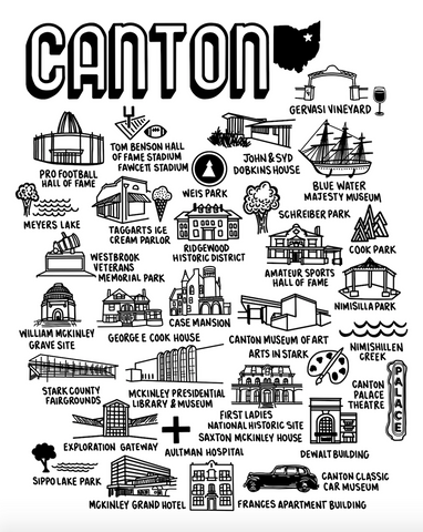 Canton Ohio Map Print