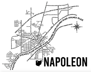 Napoleon Ohio Map Print