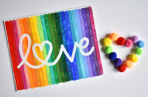 Rainbow Love Painting