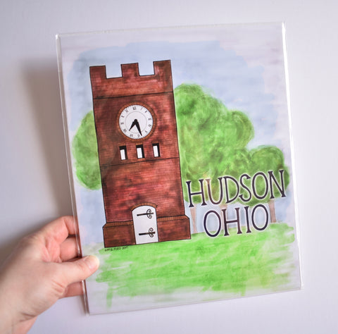 Hudson Ohio Clocktower Print