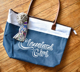 Cleveland Girl Tote Bag