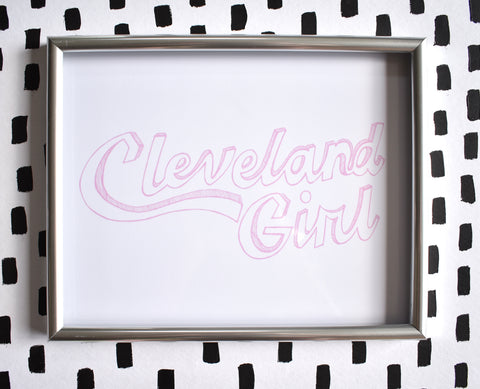 Cleveland Girl Print