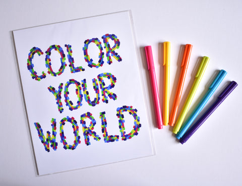 Color Your World Print