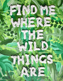 Find me Where the Wild Things Are Painting