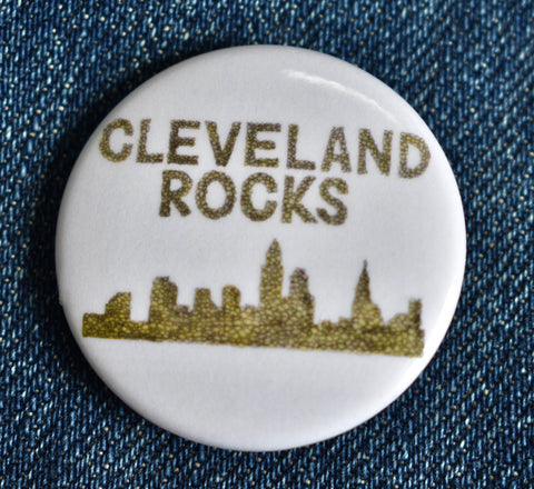 Cleveland Rocks Button
