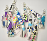 White Mini Tassel Keychain