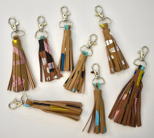 Light Brown Mini Tassel Keychain