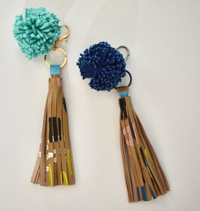 Light Brown Tassel Keychain