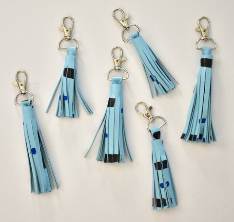 Blue Mini Tassel Keychain