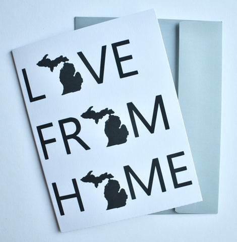 Love From Home Michigan Card