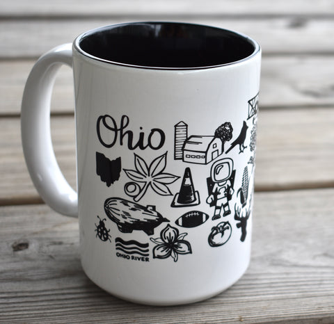 Black and White Ohio Mug