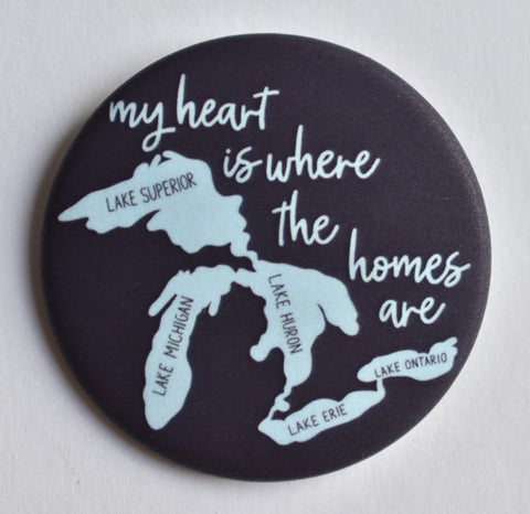 My Heart is Where the HOMES Are Button