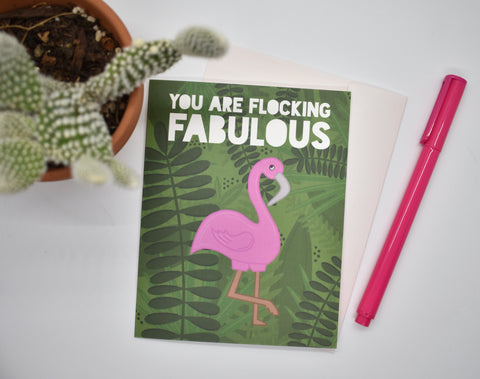 You are Flocking Fabulous Card