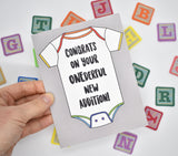 Congrats to your Onederful New Addition Baby Card
