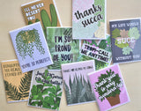 Plant Pun Greeting Card Pack