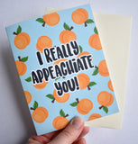 I Really Appeachiate You Card