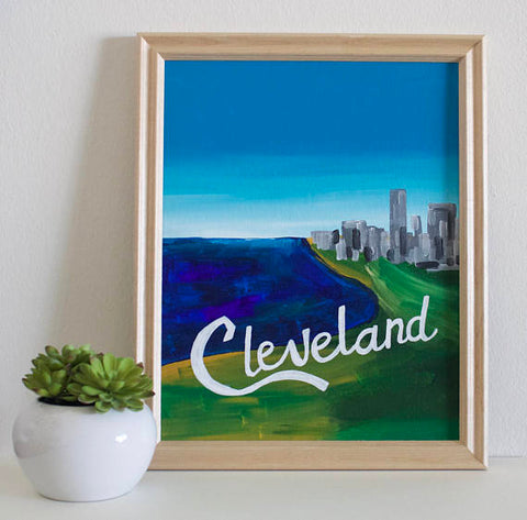 Cleveland Sign Print