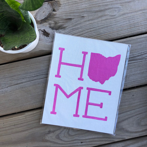 Pink on White Ohio Home Painting