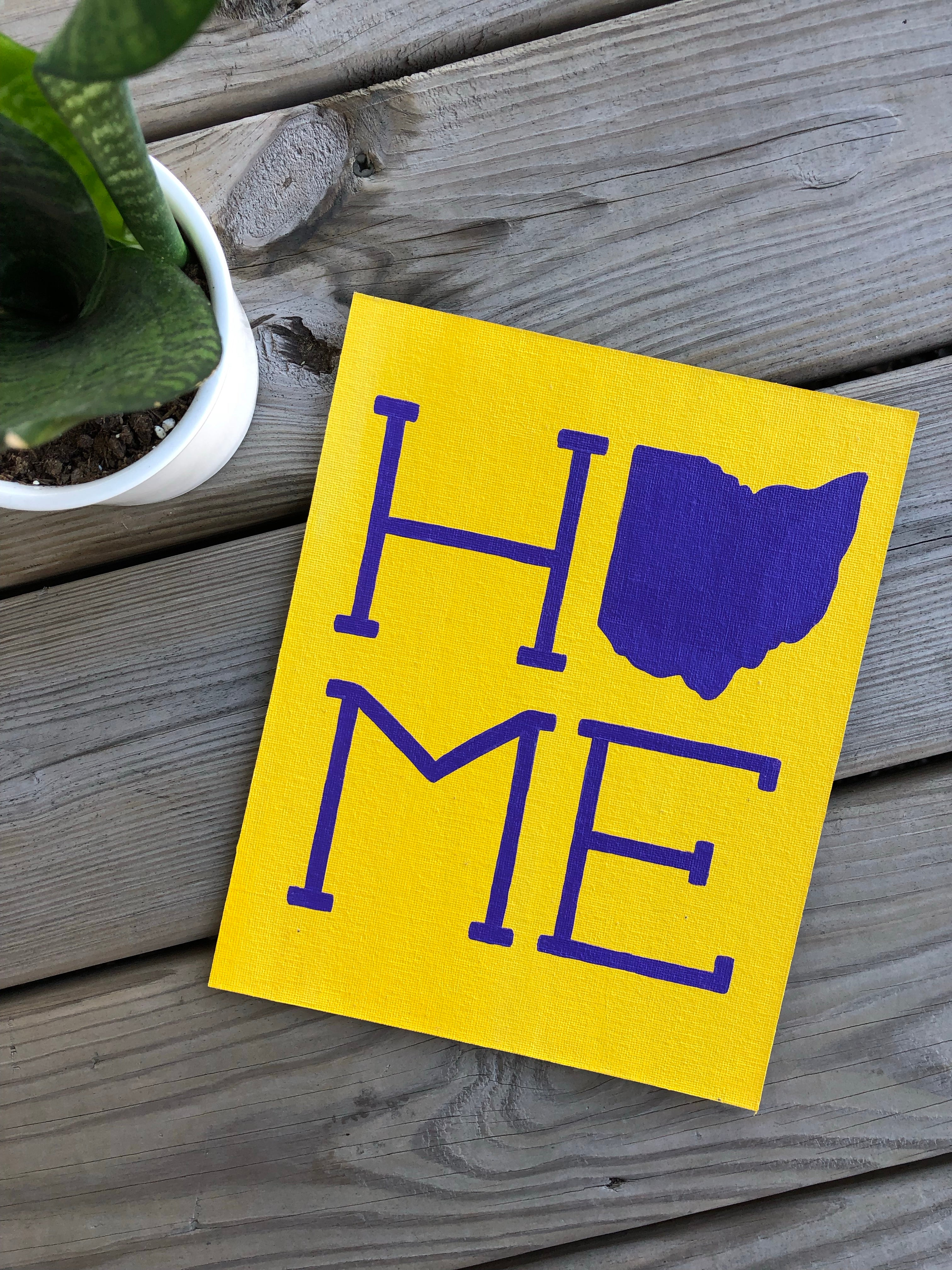 Purple on Yellow Ohio Home Painting