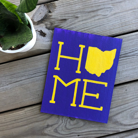 Yellow on Blue Violet Ohio Home Painting