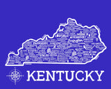 Kentucky Map Blue