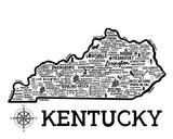 Kentucky Map White