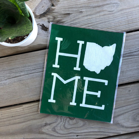 White on Green Ohio Home Painting