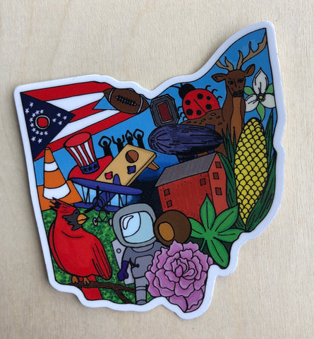 Ohio symbols Sticker