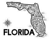 Florida Map White