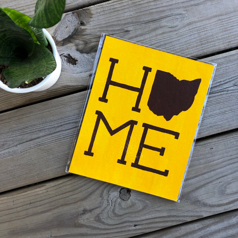 Brown on Yellow Ohio Home Painting