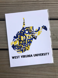 West Virginia college print