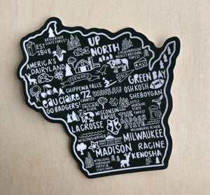 Wisconsin Map Sticker
