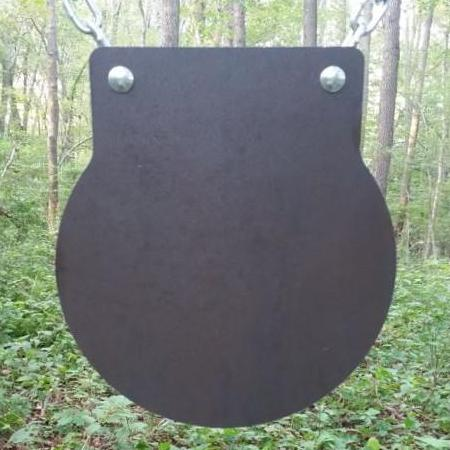 12 inch AR500 steel target - 3/8 gong