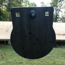 8 inch AR500 steel target - 3/8 gong with center mounting option