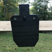 50% IPSC Silhouette AR500 steel target - 3/8 inch with center mount option