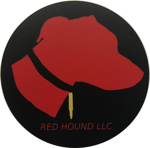 Red Hound Sticker