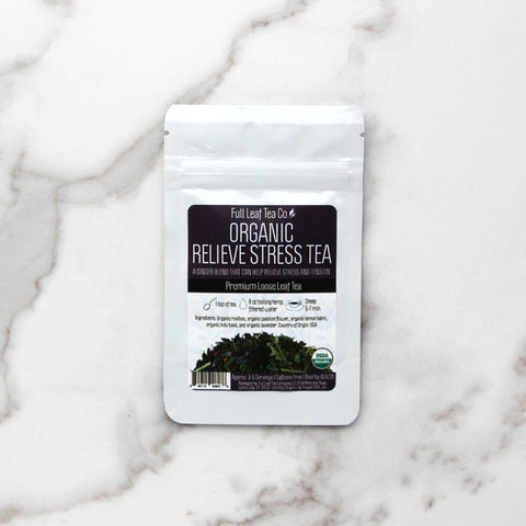 Oranic Relieve Stress Sips by Full Leaf Tea Co