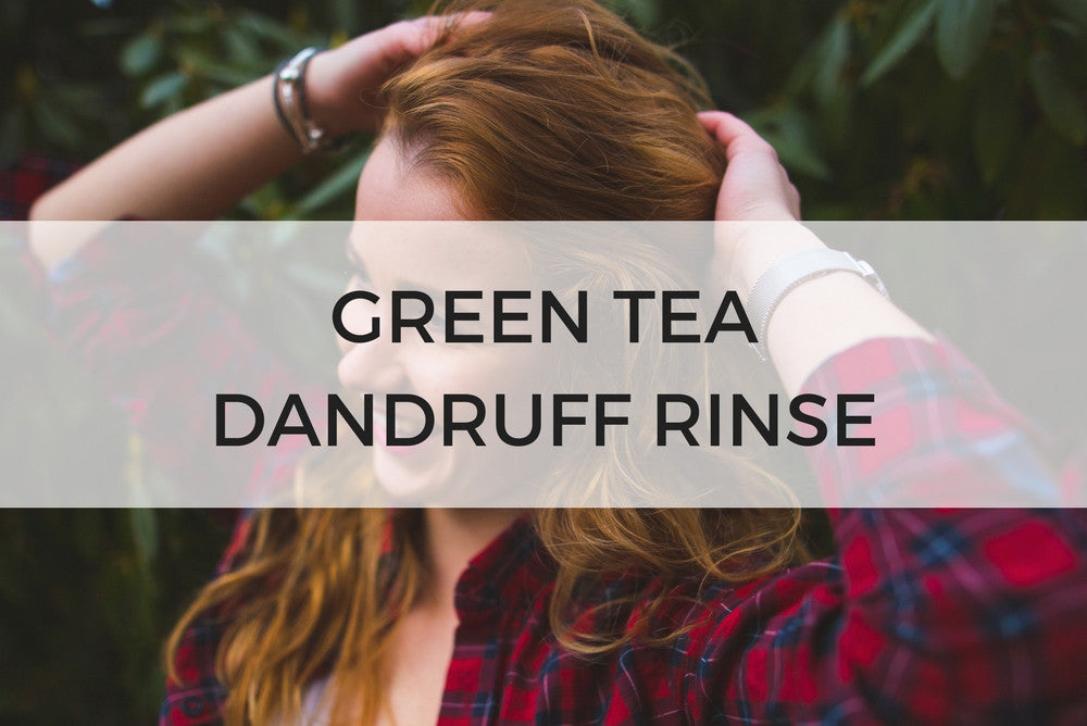 green tea dandruff rinse